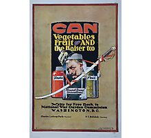 Can vegetables fruit and the kaiser too Write for free book to National War Garden Commission Washington DC 002 Photographic Print