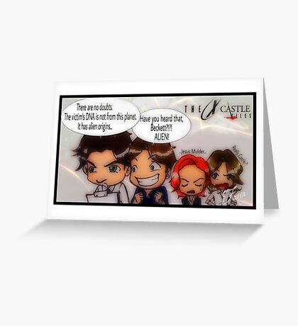 X Castle Files Greeting Card