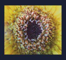 Macro Yellow Flower Center Kids Tee
