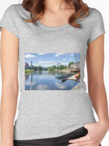 Exeter Quays 2 Women's Fitted Scoop T-Shirt