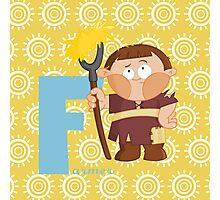 f for farmer Photographic Print