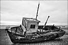 Boat on the beach by inkedsandra