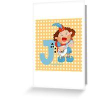 j for jongleur Greeting Card