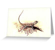 Dragon lizard Greeting Card