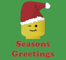 Santa Minifig Seasons Greetings by Customize My Minifig Kids Clothes