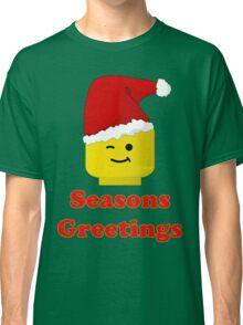 Santa Minifig Seasons Greetings by Customize My Minifig Classic T-Shirt