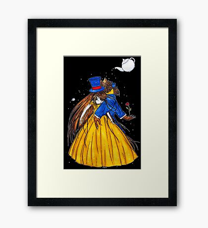 Who is the Mad Hatter ? Beauty and the Beast Framed Print