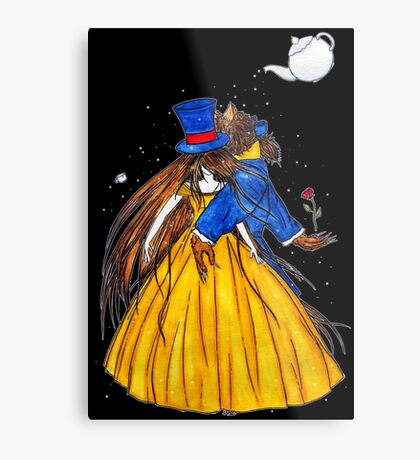 Who is the Mad Hatter ? Beauty and the Beast Metal Print
