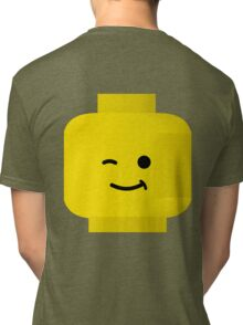 Minifig Winking Head by Customize My Minifig Tri-blend T-Shirt