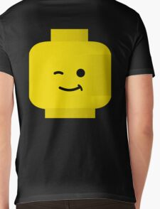 Minifig Winking Head by Customize My Minifig Mens V-Neck T-Shirt