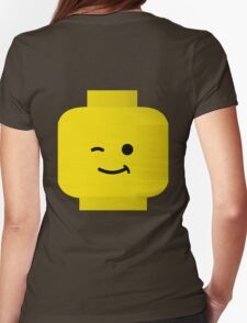 Minifig Winking Head by Customize My Minifig Womens Fitted T-Shirt
