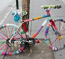 woollen bicycle by Bruce Miller