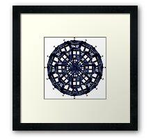 Tardis Kaleidoscope Framed Print