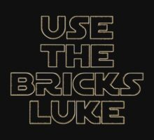 """USE THE BRICKS LUKE"" by Customize My Minifig One Piece - Long Sleeve"