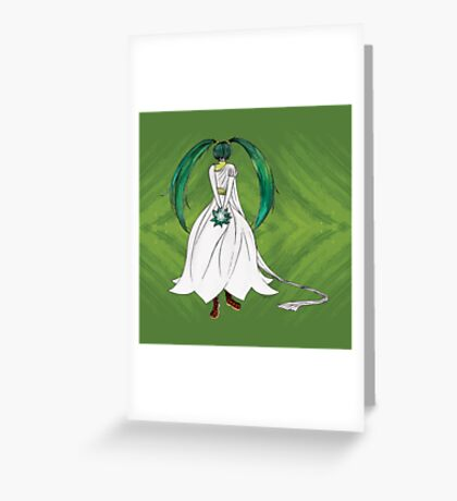 Flower Girl : Muguet (Lily of the valley) Greeting Card
