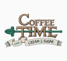 Coffee Time! (Banner) Kids Clothes