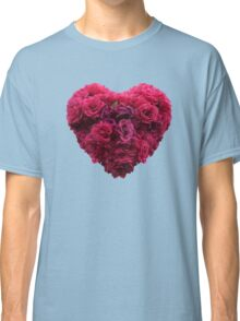Pink roses heart Classic T-Shirt