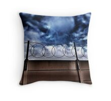 Safe from the world outside Throw Pillow