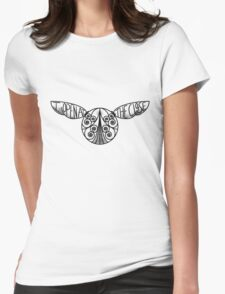 I Open At The Close - Golden Snitch Womens Fitted T-Shirt