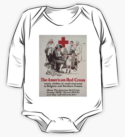 The American Red Cross wants clothes to send over seas to Belgium and Northern France Phone the American Red Cross Greeley 5650 24 west 39th St and they will tell you how One Piece - Long Sleeve