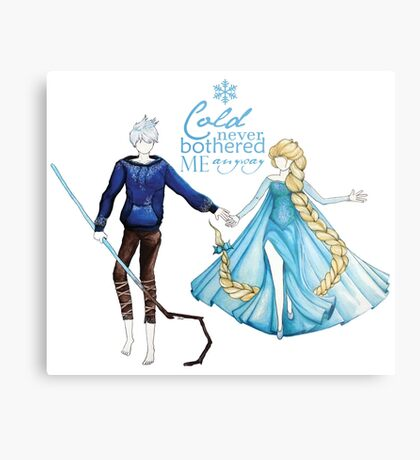 Cold never bothered me anyway (Jelsa) Metal Print
