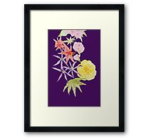 Watercolour florals on purple Framed Print