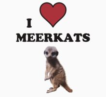 I Heart Meerkats (T-Shirt & Sticker ) One Piece - Long Sleeve