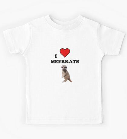 I Heart Meerkats (T-Shirt & Sticker ) Kids Tee