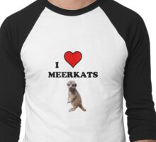 I Heart Meerkats (T-Shirt & Sticker ) Men's Baseball ¾ T-Shirt