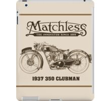 Matchless British classic motorcycle iPad Case/Skin