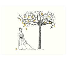 Cinderella and Her Pear Tree Art Print