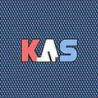 K.A.S Wide Logo Phone Cover - Blue Synthpop by K. A .S