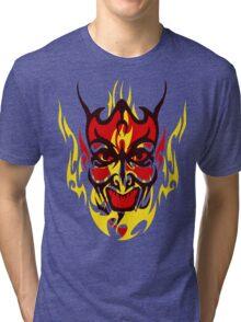 Flaming Devil Tri-blend T-Shirt