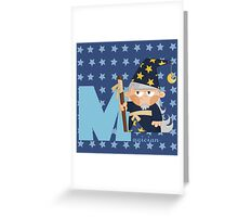 m for magician Greeting Card