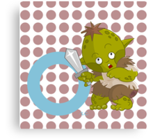 o for orc Canvas Print