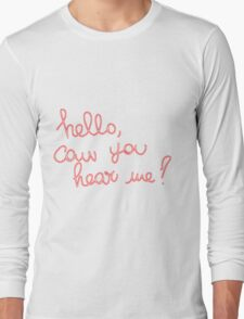 Adele Hello Long Sleeve T-Shirt