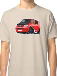 VW T5 (A) Red Classic T-Shirt