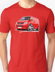 VW T5 Sportline Van Red T-Shirt