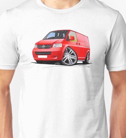 VW T5 Sportline Van Red Unisex T-Shirt