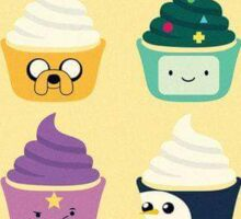 adventure time cupcakes Sticker