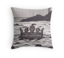 """The hollow crown that rounds the mortal temples of a king...""  Throw Pillow"