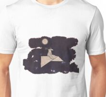 Bird on a paper plane Unisex T-Shirt