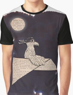 Bird on a paper plane Graphic T-Shirt