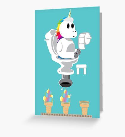 Rainbow Unicorn Ice Cream Greeting Card