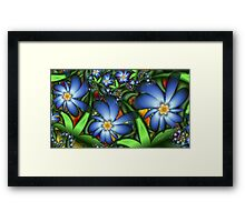 Blue Flowers in the Garden Framed Print
