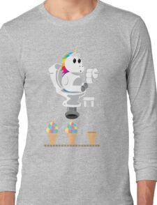 Rainbow Unicorn Ice Cream Long Sleeve T-Shirt