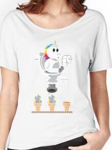 Rainbow Unicorn Ice Cream Women's Relaxed Fit T-Shirt
