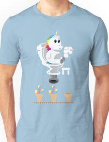 Rainbow Unicorn Ice Cream Unisex T-Shirt