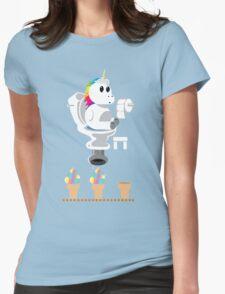 Rainbow Unicorn Ice Cream Womens Fitted T-Shirt
