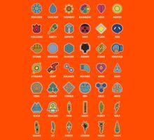 Pokemon Badges Kids Tee